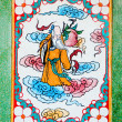 The Colorful of old painting on wall in joss house — Stockfoto