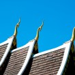 The Beautiful roof of temple on blue sky background — Stock Photo #10498687