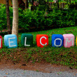 The Colorful of welcome text — Stock Photo