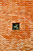 The Old brickwall and exhaust fan — Stock Photo