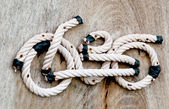 The Abstract of rope look like bicycle — Stock Photo