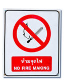 The Sign of no fire isolated on white background — Stock Photo