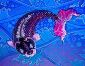 La pittura antica di .the tempio buddista è aperta a t — Foto Stock