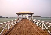 The Beautiful old bridge on Sri chang island at sriracha ampor , — Stock Photo