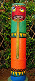 The Colorful of totem pole — Stock Photo