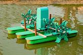 The Turbine water on pond — Stock Photo