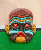 The Decorative African mask — Stock Photo