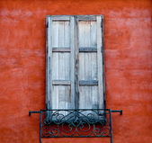 The Old window on wall background — Стоковое фото