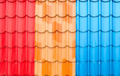 The Colorful roof metal — Foto de Stock