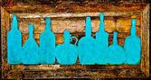 The Sign bottle of liquor on wood — Stock Photo