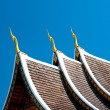 The Beautiful roof of temple on blue sky background — Stock Photo #10547998