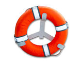 The Life buoy preserver isolated on white background — Stock Photo
