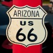 The Route 66 sign, Arizona, USA - Stock Photo