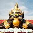 The Status of black deity called Rahu - Foto Stock