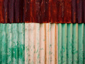 The Rusty on zinc metal plate texture — Stock Photo