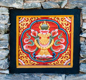 The Colorful carving wood of bhutan style — Stock Photo