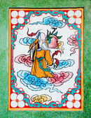 The Colorful of old painting on wall in joss house — Fotografia Stock