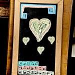 The Heart drawn on a blackboard chalk — Stock Photo