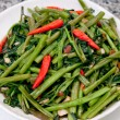 Stock Photo: Stir fried of morning glory thai style