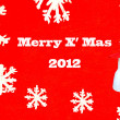 Snowmcard of merry x' mas 2012 — Stock Photo #10609465