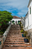 The Staircase of koh wung palace, petchaburi province Thailand — Stock Photo