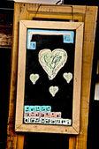 The Heart drawn on a blackboard chalk — Stock fotografie
