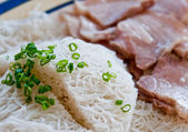 The Vietnam noodle with pork — Stock Photo