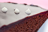 The Cake chocolate with snowflake — Stock fotografie