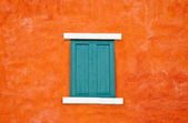 The Old window on wall — Stock Photo