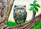The Colorful ceramic of owl — Stock Photo