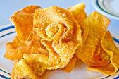 The Fried dumpling crispy — Stock Photo