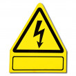 Stock Photo: Sign of danger of electricity from high voltage isolated on