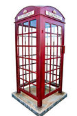 The British red phone booth isolated on white background — Stock Photo