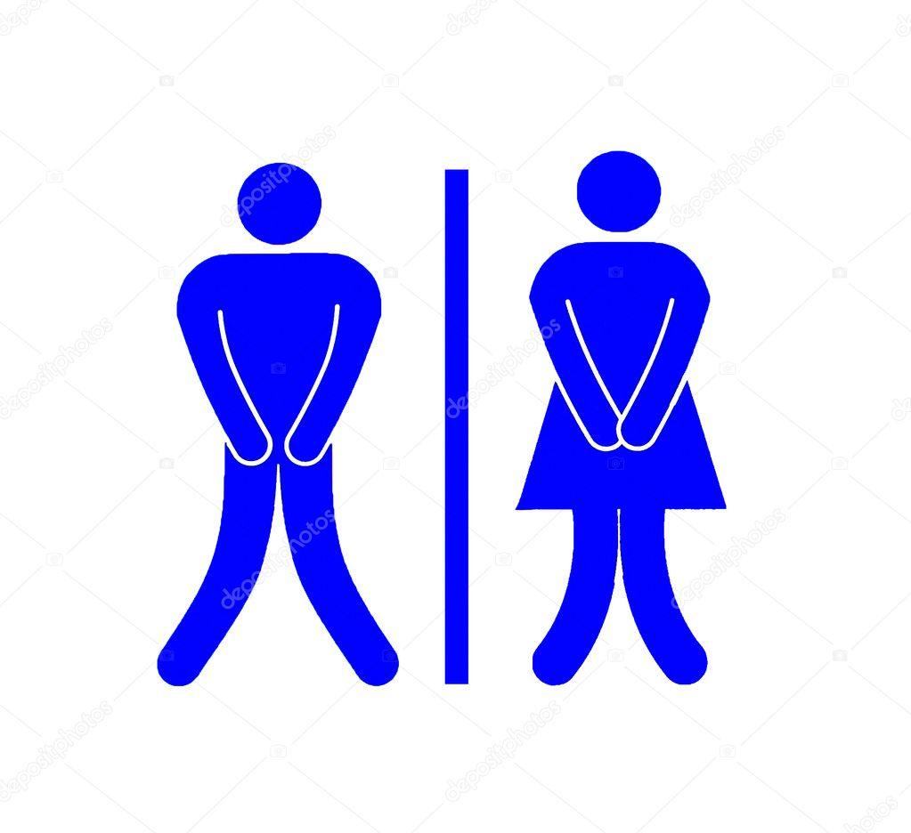 Imagenes De Baño Para Mujeres: de baño hombres y mujeres aislado sobre fondo blanco – Imagen de