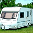 The Camping or caravan car - Stock Photo