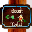The Sign restroom for men - 图库照片