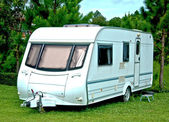 The Camping or caravan car — Stock Photo