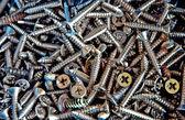The Closeup of screw background — Stock Photo