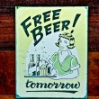 Royalty-Free Stock Photo: The Old poster of beer on wood background