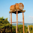 Stock Photo: The OId water tank in farm