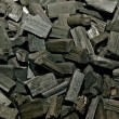 The Closeup of charcoal — Stock Photo
