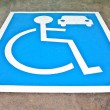 The Reserved car park for handicapped — Stock Photo