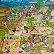 The Painting art of native thai style - Stock Photo