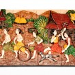 The Sculpture thai children of native thai style — Stock Photo