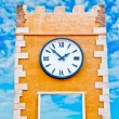 The Clock on old tower — Stock Photo