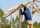 The Home renovation work under construction — Stock Photo