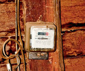 The Old electric meter — Stock Photo