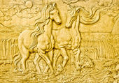 The Carving sandstone of horse — Stock Photo