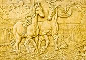 O arenito de escultura de cavalo — Foto Stock