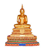 The Buddha status isolated on white background — Stockfoto